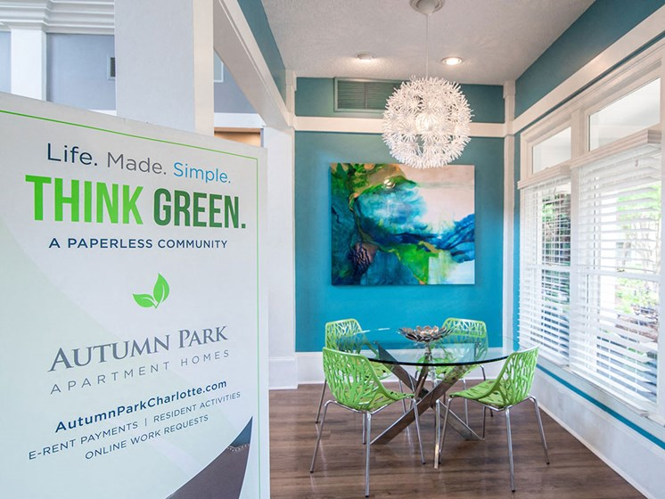Stunning Lobby to our Community Clubhouse with Ample Space and Amenities at Autumn Park Apartments, Charlotte, NC 28262