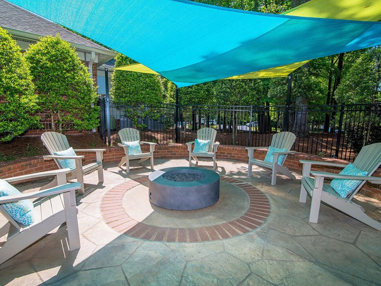 Outdoor Courtyard with Conversational Fire Pit & Picnic Area at Autumn Park Apartments, Charlotte, NC 28262