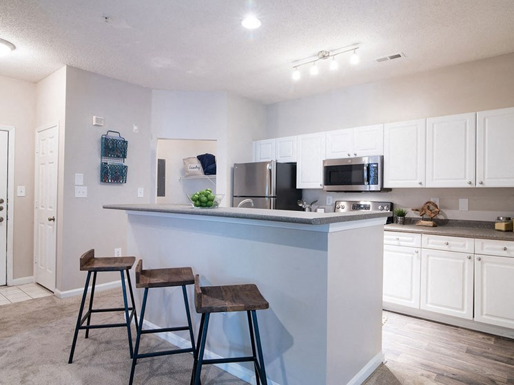 Bright Open Kitchens Complete with Stainless Steel Modern Appliances, Garage Disposal and More at Autumn Park Apartments, Charlotte, NC 28262
