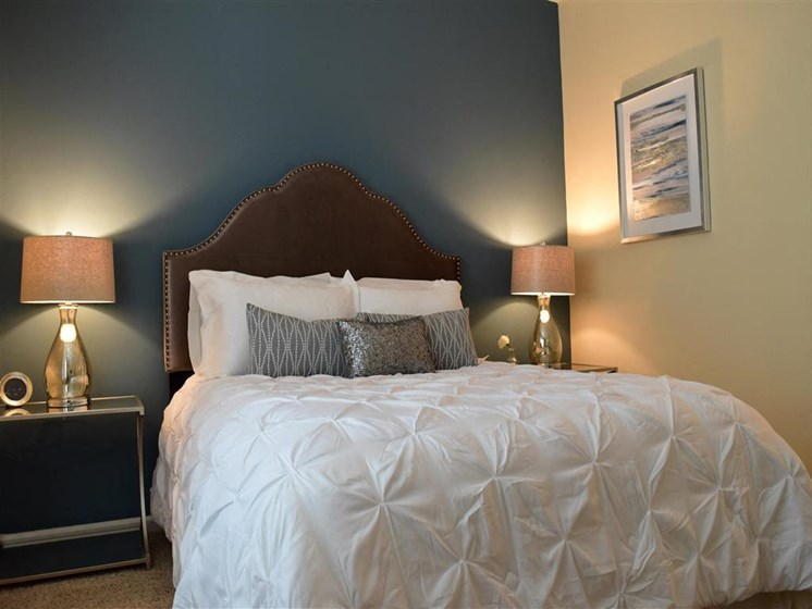 Master Bedroom Feels Large and Spacious with Impressive 9 Foot Ceilings and Large Walk-In Closets at Autumn Park Apartments, Charlotte, NC 28262