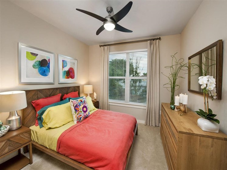 Spacious Bedroom with Whisper-quiet Ceiling Fans at Bleecker Hyde Park, Tampa, FL, 33606
