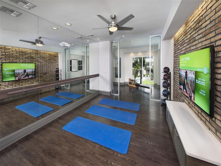 Health and Fitness Club Yoga Studio, Indoor Spin Studio and Cardio and Weight Training at Bleecker Hyde Park, Tampa, FL, 33606