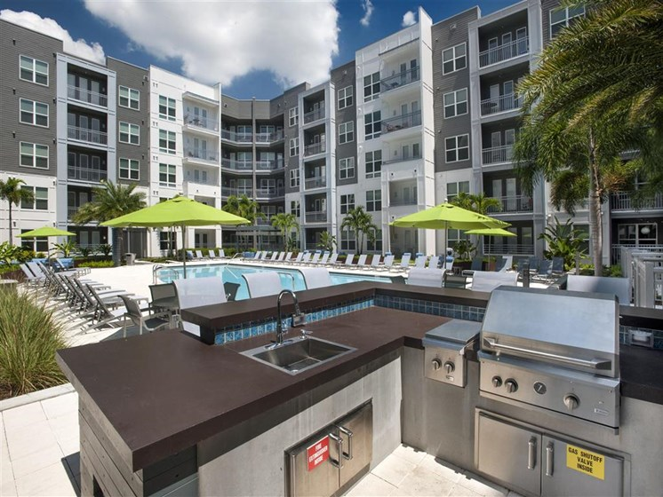 Outdoor Gourmet Grilling Area at Bleecker Hyde Park, Tampa, FL, 33606