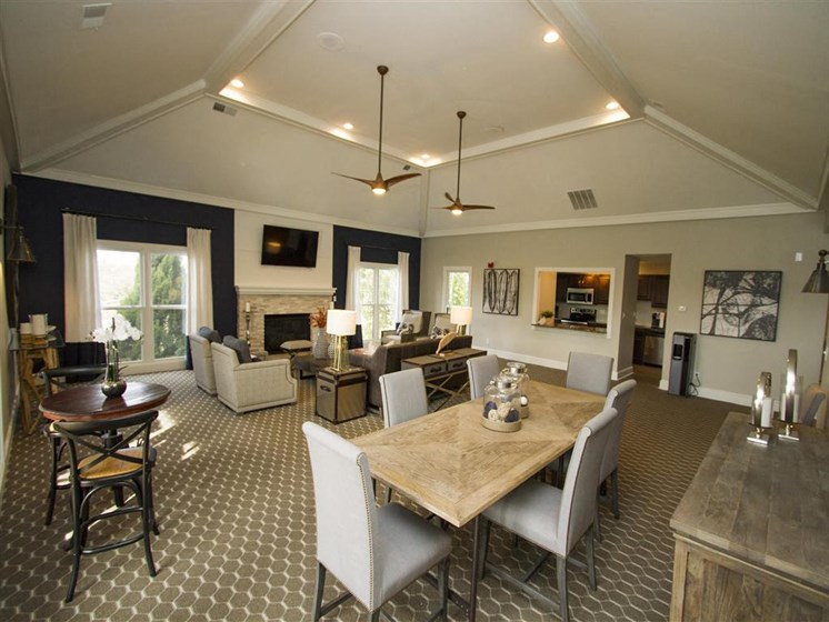 Entertaining Space for Resident Use in the Large spacious and newly renovated Clubhouse  at Hampton Woods, Shawnee, KS