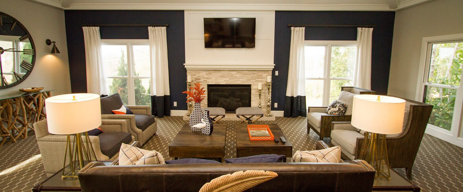 Large spacious and newly renovated Clubhouse just for our residents at Hampton Woods Apartments, Shawnee, KS 66217