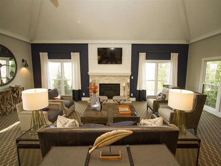Large spacious and newly renovated Clubhouse just for our residents at Hampton Woods, Shawnee, KS, 66217