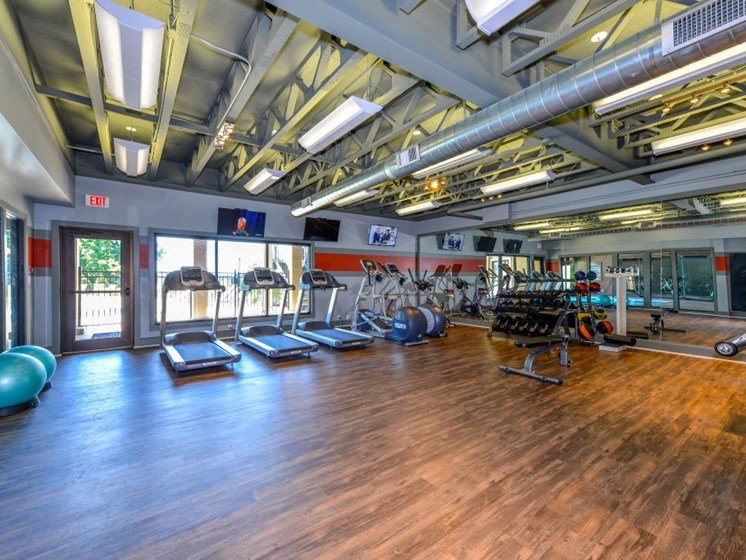 24 Hour Health and Fitness Club including TVs and Cardio and Weight Training  at Hampton Woods, Shawnee, KS, 66217