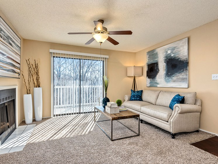 Living Room With Oversized Windows And Doors at Hampton Woods, Shawnee, 66217