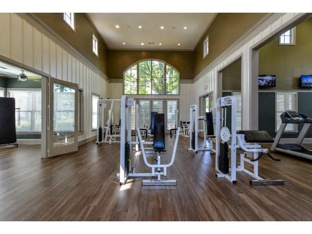 Health and Fitness Body Barn including TVs, Indoor Spin Studio and Cardio and Weight Training at Legacy Farm Apartments, Collierville, TN 38017