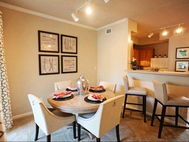 Gorgeous Dining Room Space with Elegant Crown Moulding at Legacy Farm Apartments, Collierville, TN 38017