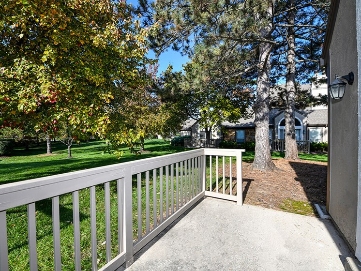 Private Balcony or Patio in Select Units with Scenic Views at Pointe Royal Townhome Apartments, Overland Park, KS 66213