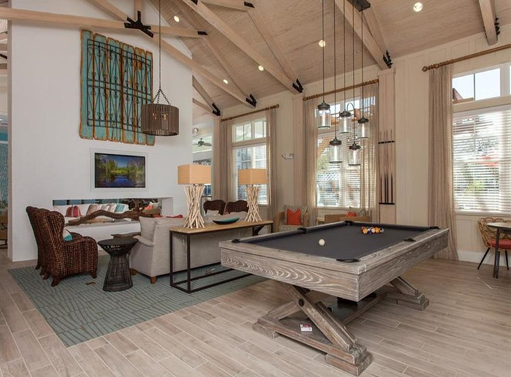 Billiards Table In Clubhouse at Spyglass Seaside, Charleston, SC, 29412
