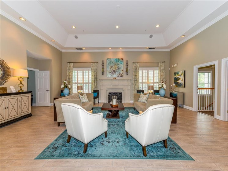 Stunning Modern Design Community Clubhouse with Ample Space and Amenities at Sugarloaf Crossing Apartments, Lawrenceville, GA 30046