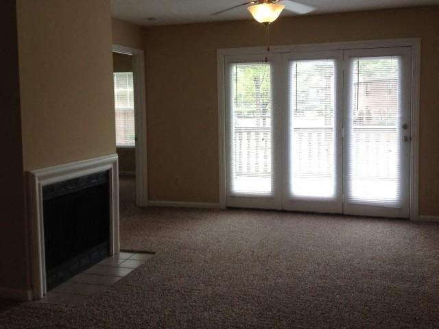 Wood burning fireplace in select units at The Addison at Collierville Apartments, Collierville, TN 38017