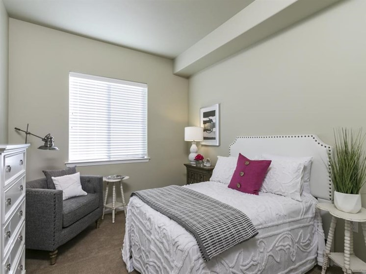 Bedroom With Expansive Windows at The Oaks at Nipomo, Nipomo, 93444