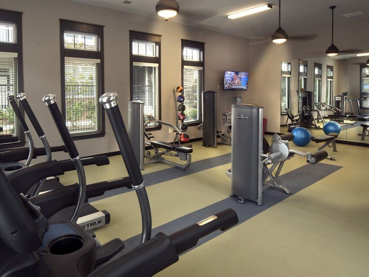 24 hour Fitness Center with Spin Room and TV at Grand Oak at Town Park, Smyrna, TN