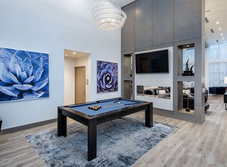 pool table in clubroom