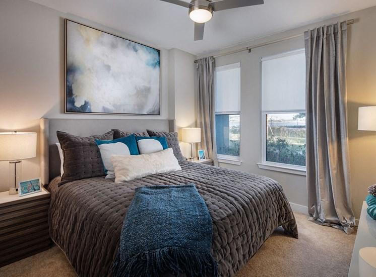 furnished model bedroom
