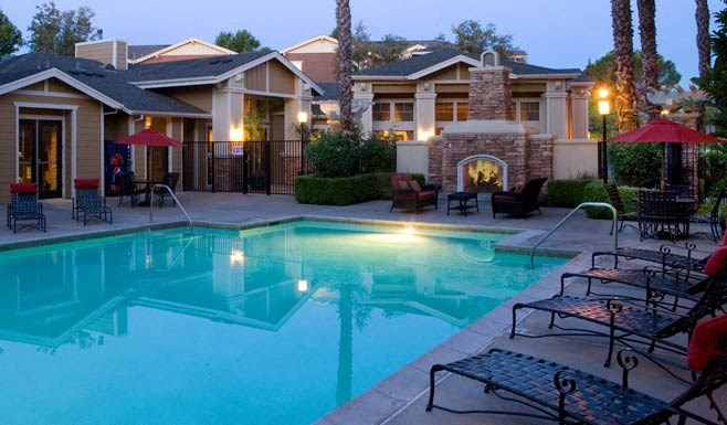 building exterior and outdoor pool
