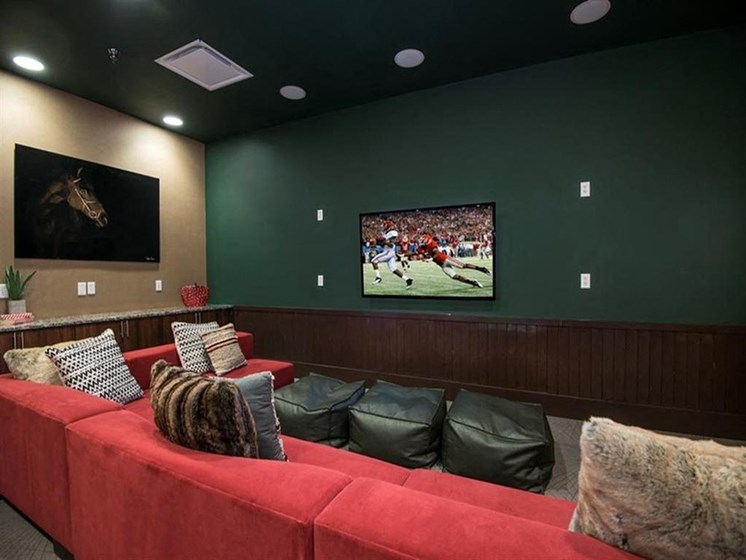 lounge area seating with television