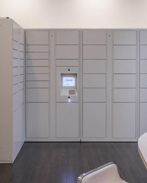 Package Lockers, grey in various sizes