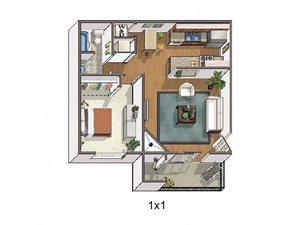 Copper Flats Apartments 1 bed 1 bath 644 sqft
