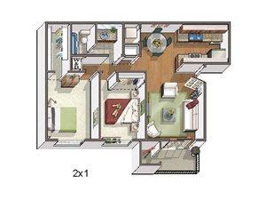 Copper Flats Apartments 2 bed 1 bath 820 sqft