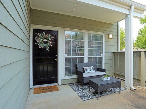 Front patio with sitting area