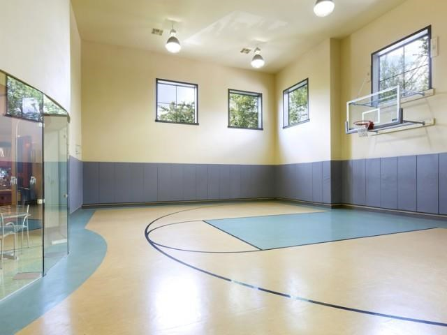 Indoor half basketball court