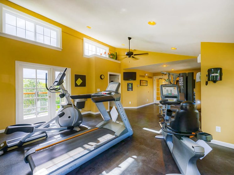 fitness center at Village Royale Apartments