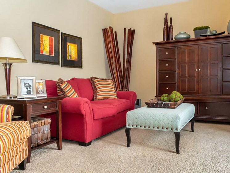 living room at Village Royale apartments