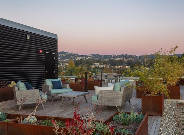 rooftop outdoor seating area