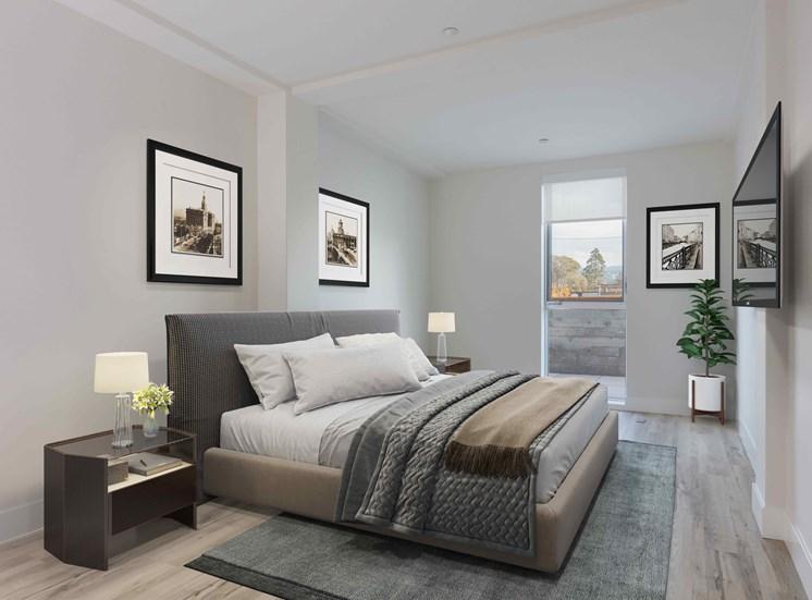 furnished apartment bedroom