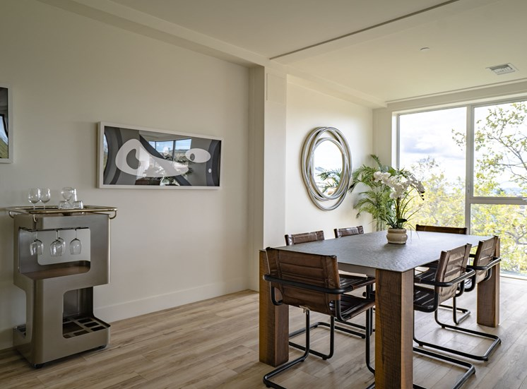 furnished apartment dining room
