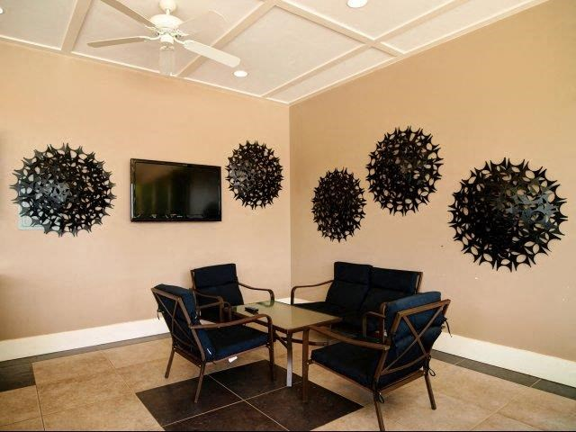 Community Seating Area at Hayleigh Village Apartments, Greensboro, 27410
