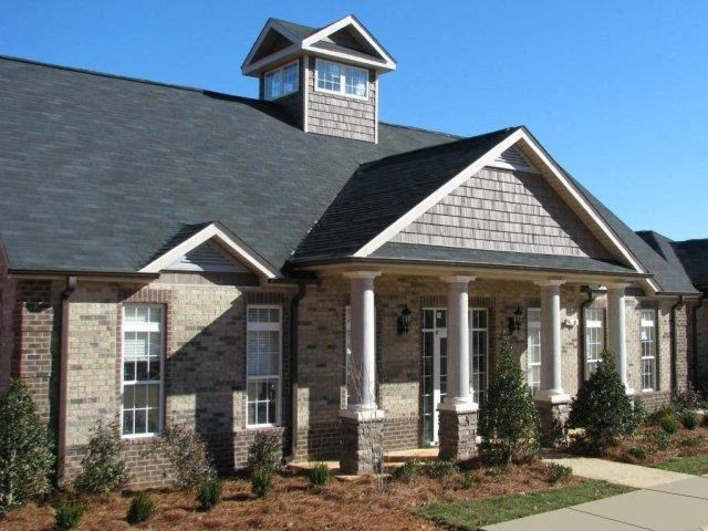Front Office Building with Architectural Details at Hayleigh Village Apartments, Greensboro, 27410