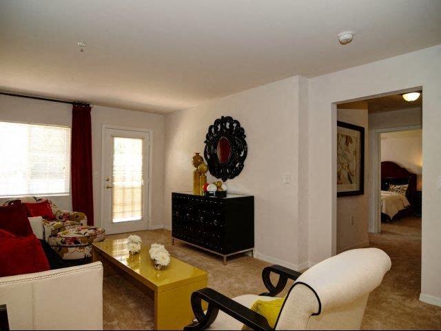 Remodeled Living Room at Hayleigh Village Apartments, Greensboro, North Carolina