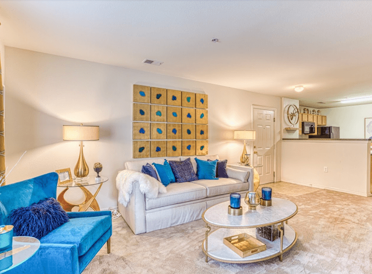 Living room at Alaris Village Apartments, North Carolina