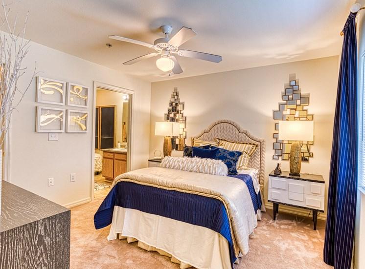 master bedroom with updated interior  at Alaris Village Apartments, Winston-Salem, NC