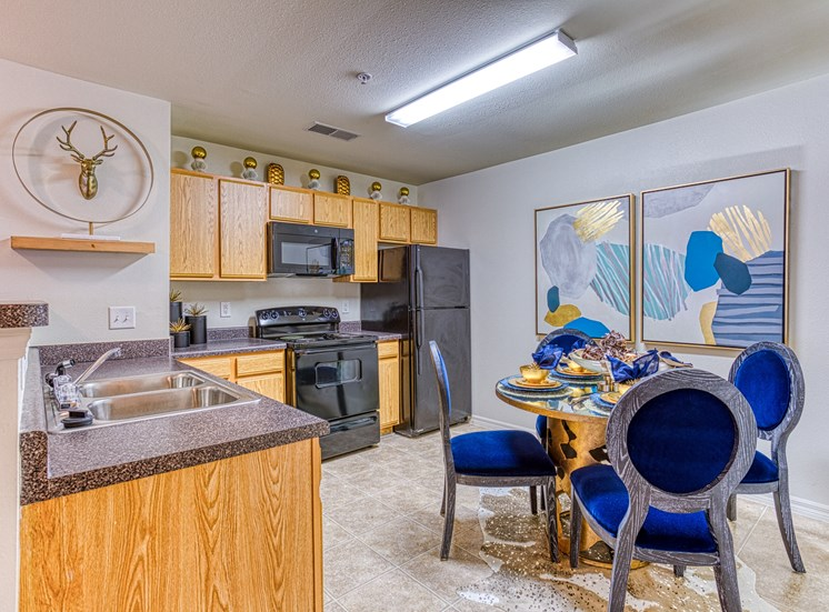 Kitchen with contemporary interior  at Alaris Village Apartments, Winston-Salem, NC