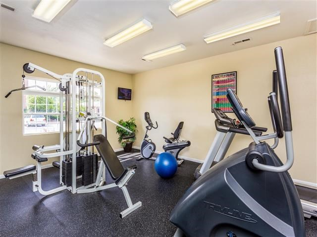 Fitness Center with Updated Equipment at Featherstone Village Apartments, North Carolina