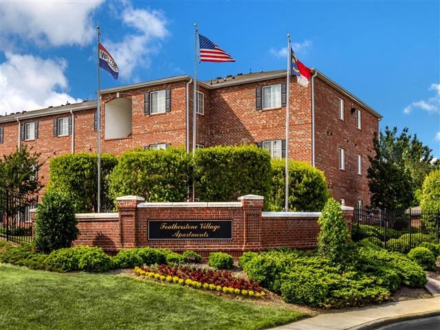 Controlled-Access Gate Entrance at Featherstone Village Apartments, Durham, NC, 27703