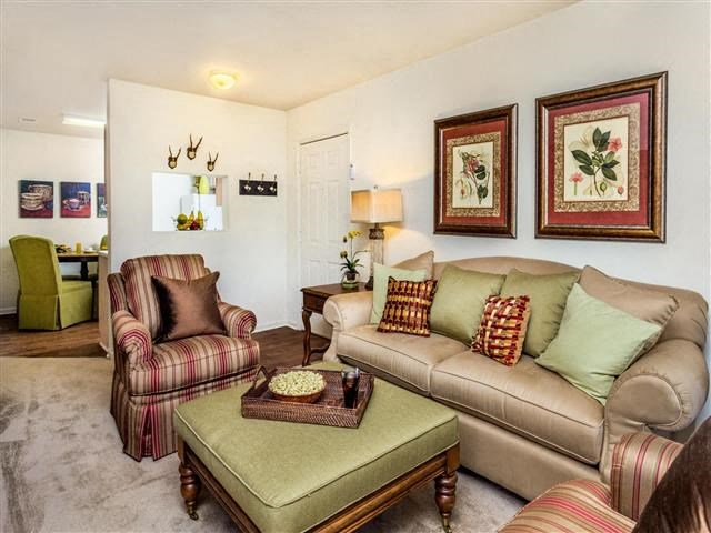 Spacious Living Room Layouts at Featherstone Village Apartments, Durham, 27703