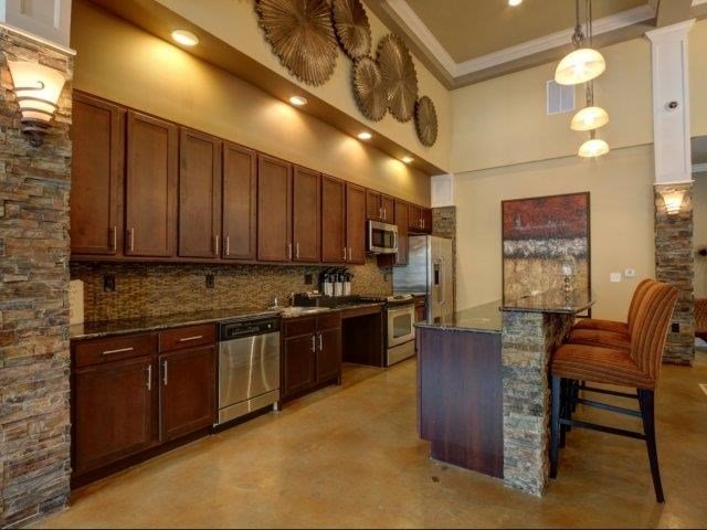 Fully Equipped Community Kitchen at Kilnsea Village Apartments, Summerville, 29485