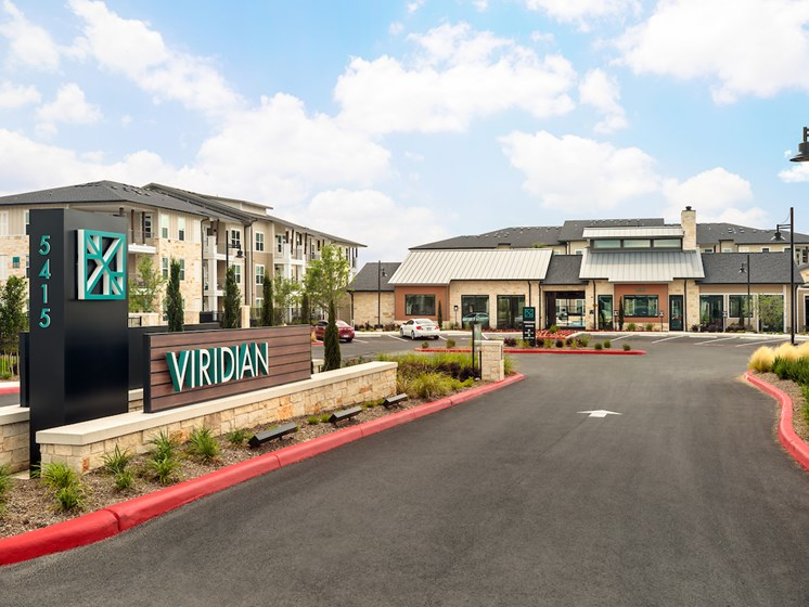 Apartment Entrance at Viridian, Texas