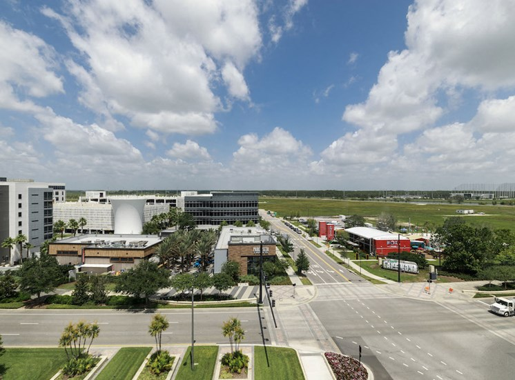 amazing views of downtown lake nona from Pixon