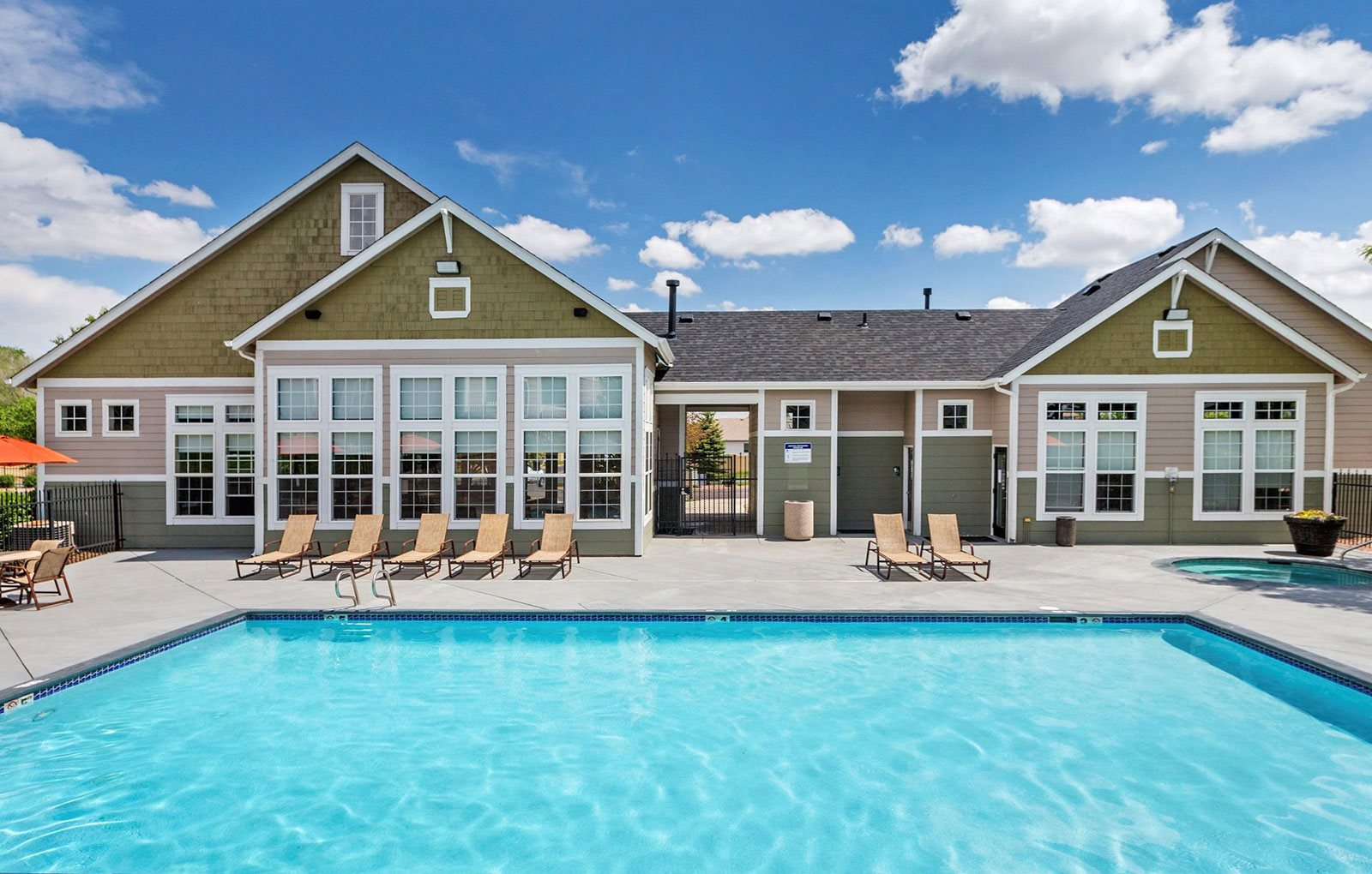 Resort Style Swimming Pool at Village at Westmeadow Apartments, Colorado Springs, Colorado