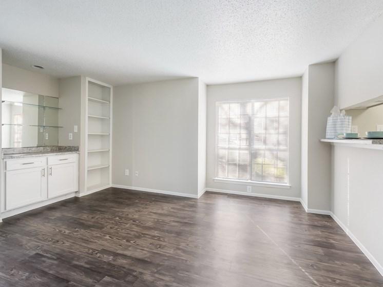 hardwood floors in the living room