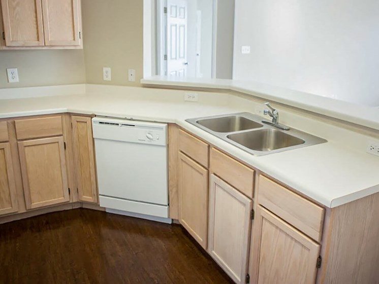 kitchen at Lubbock apartments