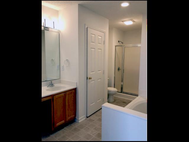 Bathroom at Crystal Lake Townhomes, Greesboro, NC